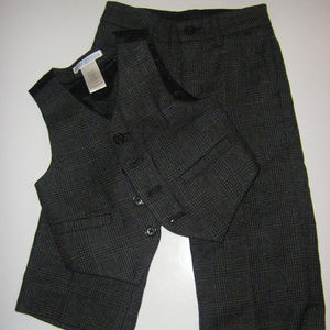 Janie And Jack Holiday Pant and Vest Set